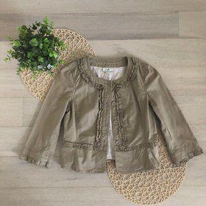 💸💸Ann Taylor LOFT Ruffle Cotton Jacket 6